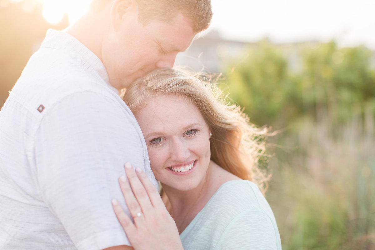 beautiful sunset engagement pictures in virginia beach