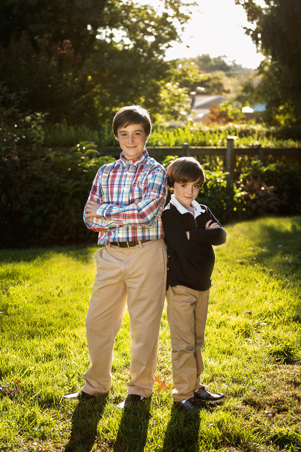 Two brothers enjoying a family photo shoot