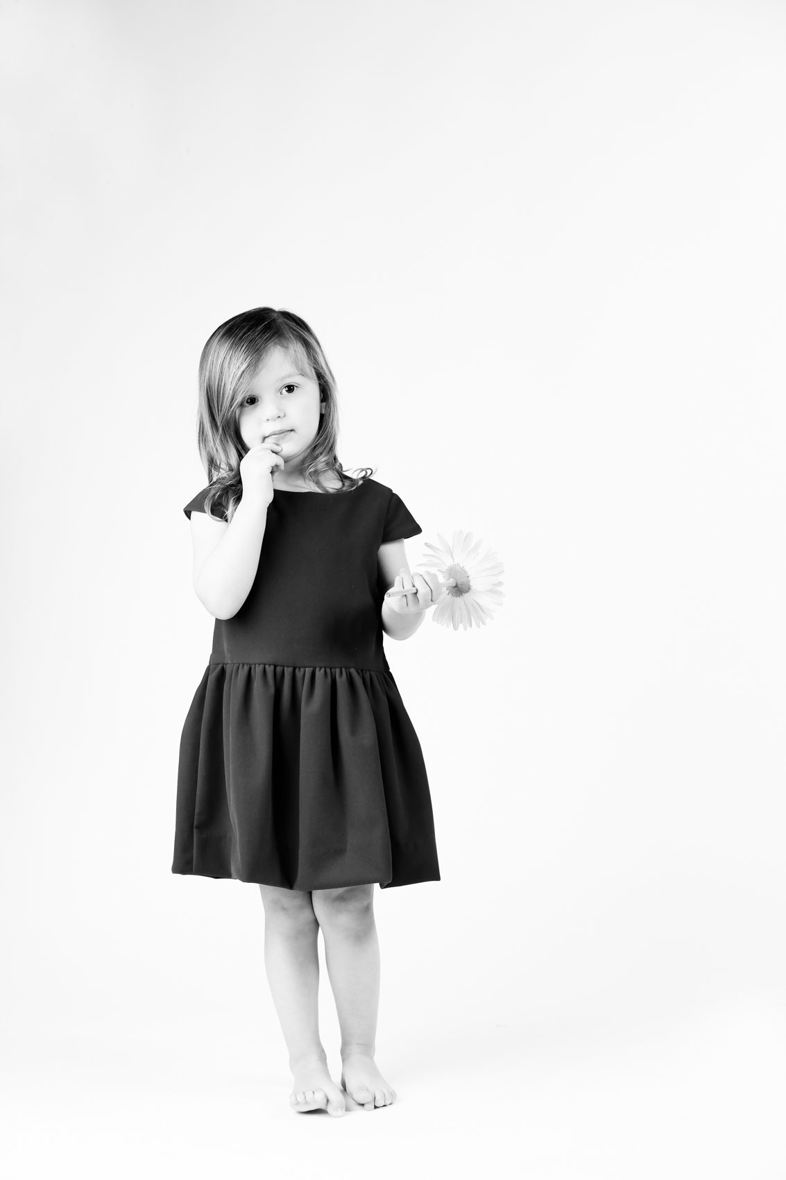 Family of Little Girl in Studio