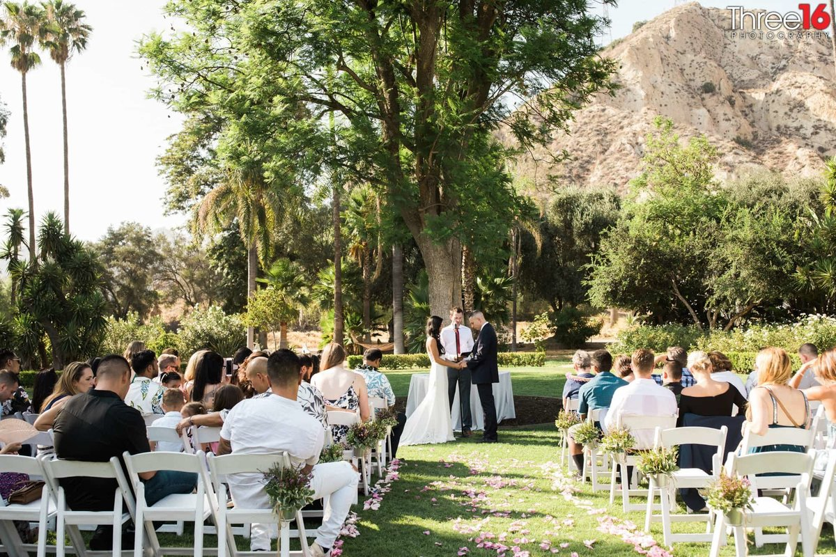 Newhall Mansion Piru California Los Angeles  Wedding Venue Photography Ceremony vows bride and groom