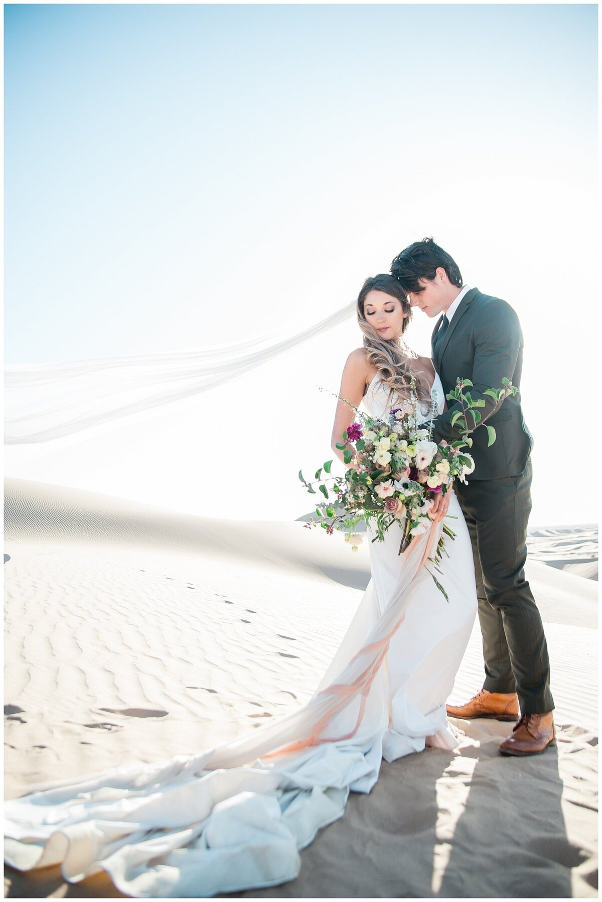Glamis Desert Bohemian Wedding Styled elopement southern california sand dunes photo011