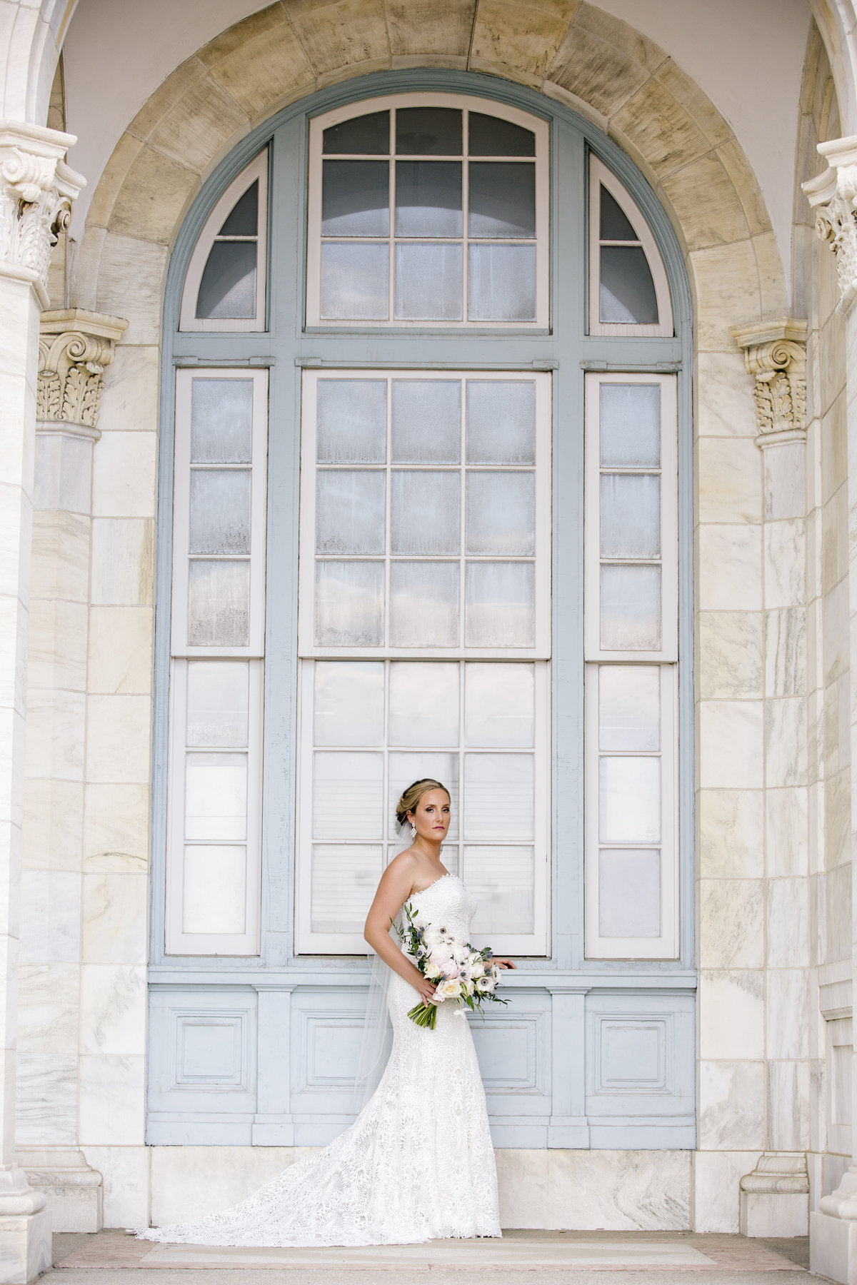 bride in asbury park wedding