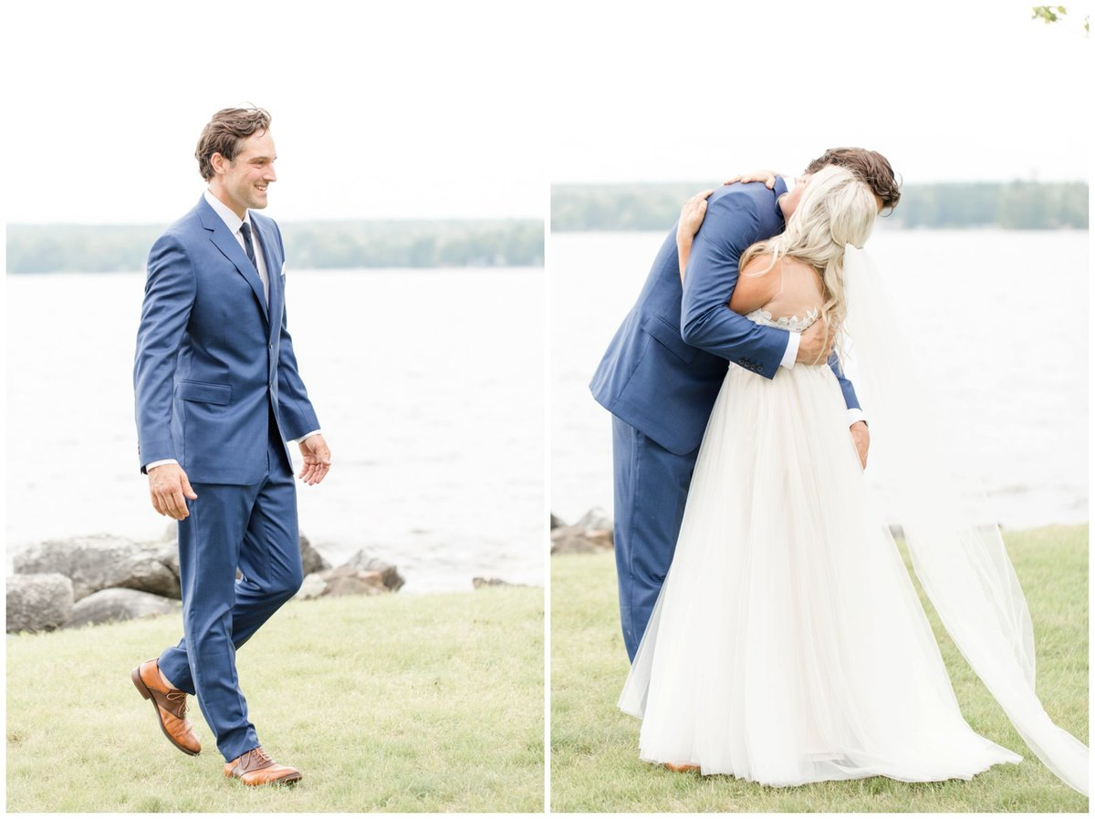 Light-and-Airy-Ottawa-Wedding-Photographer-Bride-and-Groom-First-Look-Calabogie-Wedding