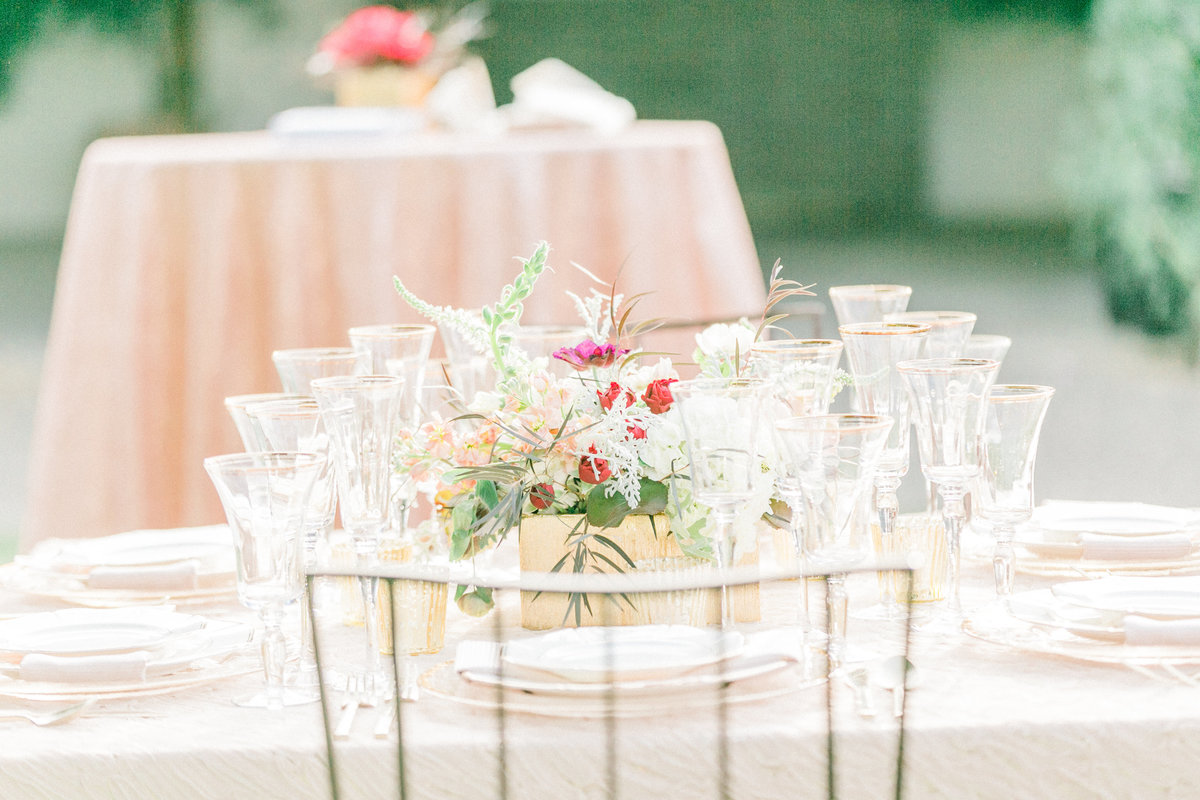 Blush Gilded Champagne Glasses Wedding