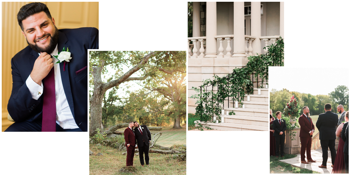 Fall LGBT wedding at Great Marsh Estate in Bealeton, Virginia
