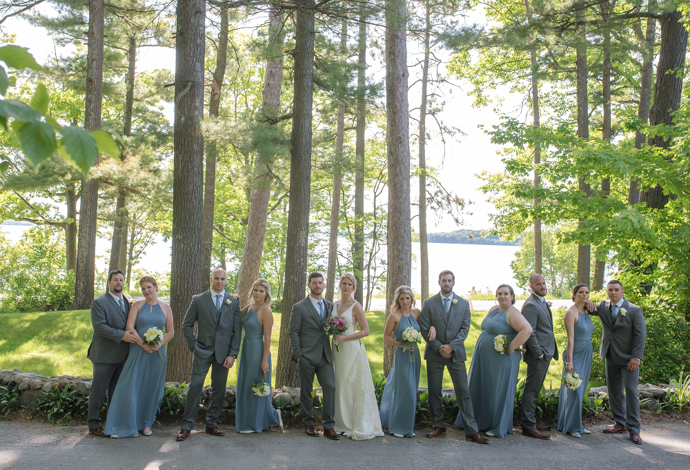 DESTINATION WEDDING IN TRAVERSE CITY WITH KRISTEN AND SCOTT Bridal Party Portrait