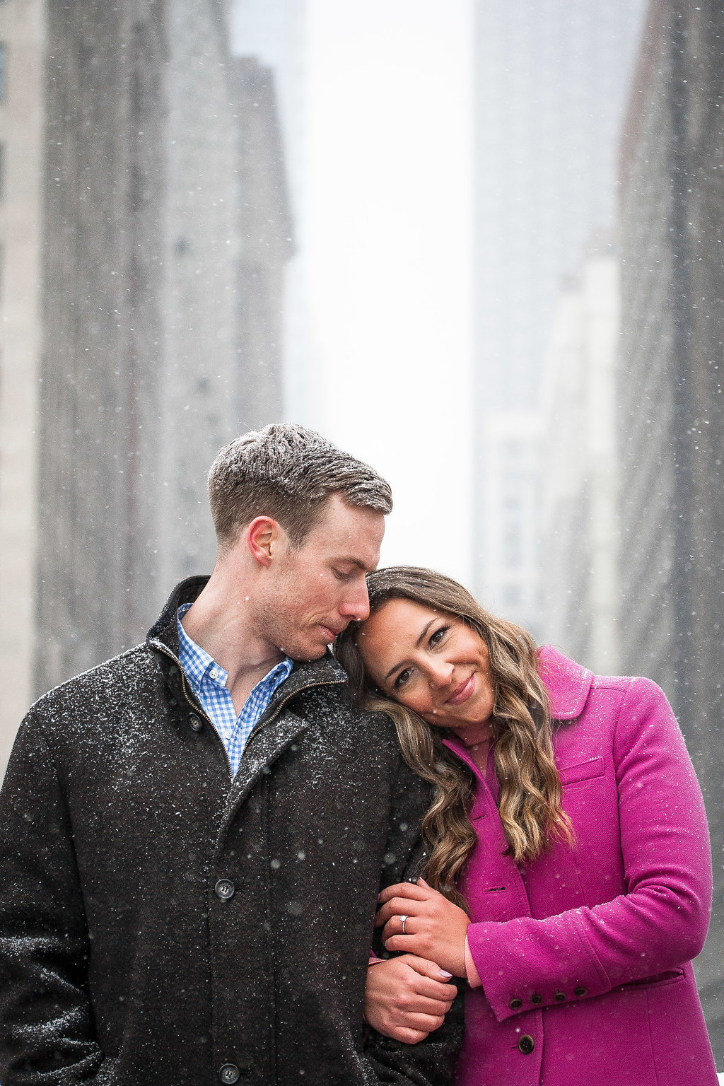 Millennium Park Chicago Illinois Winter Engagement Photographer Taylor Ingles 31