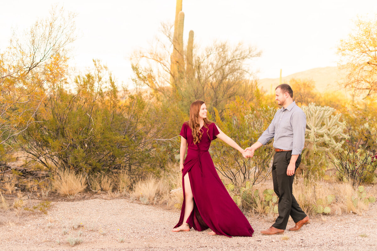 Desert Engagement Session Tucson Diana and Dalyn- 093