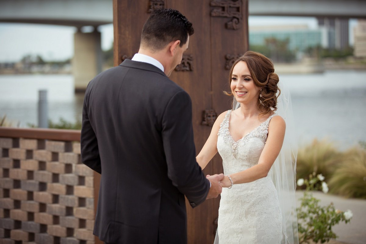 Orange-County-Wedding-Photographer-Los-Angeles-Wedding-Photography-bride-groom-first-look long beach