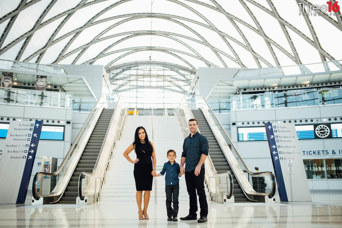 ARTIC Train Station Urban Family Session Anaheim Orange County Weddings