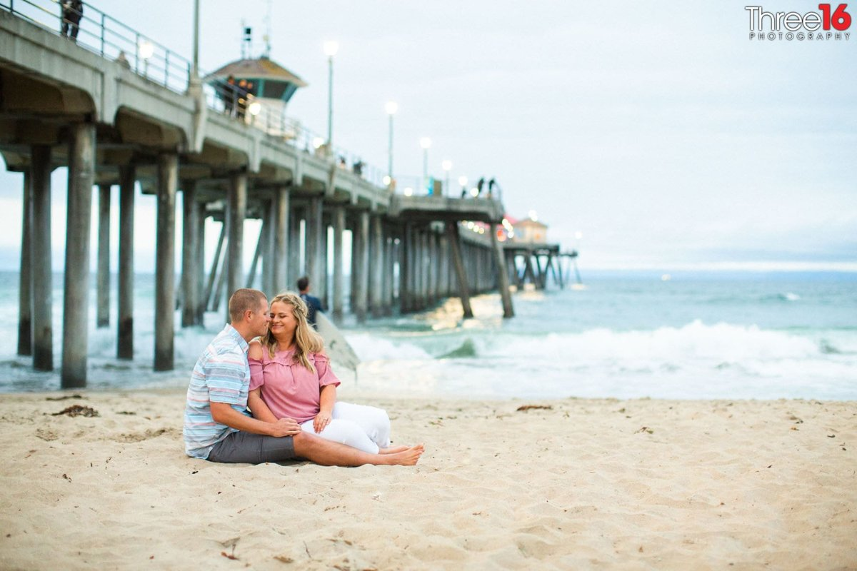 Huntington Beach Pier Engagement Photos Orange County Wedding