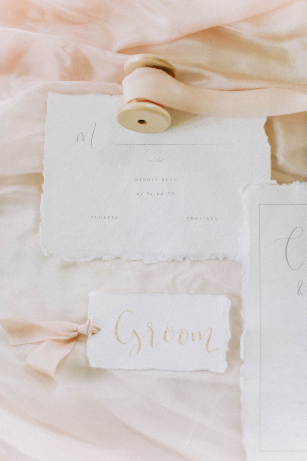 Elegant Calligraphy Wedding Place Names