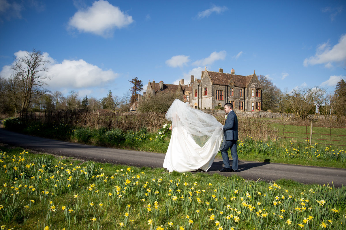 easter wedding at huntsham court