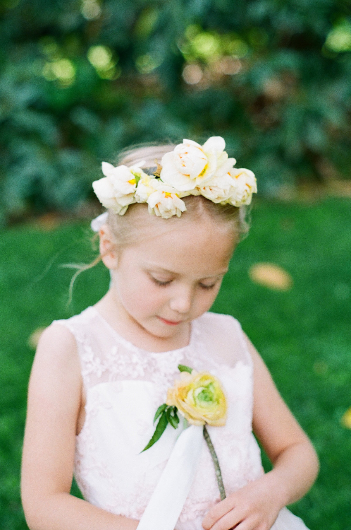 Flowergirl with Flower Wand