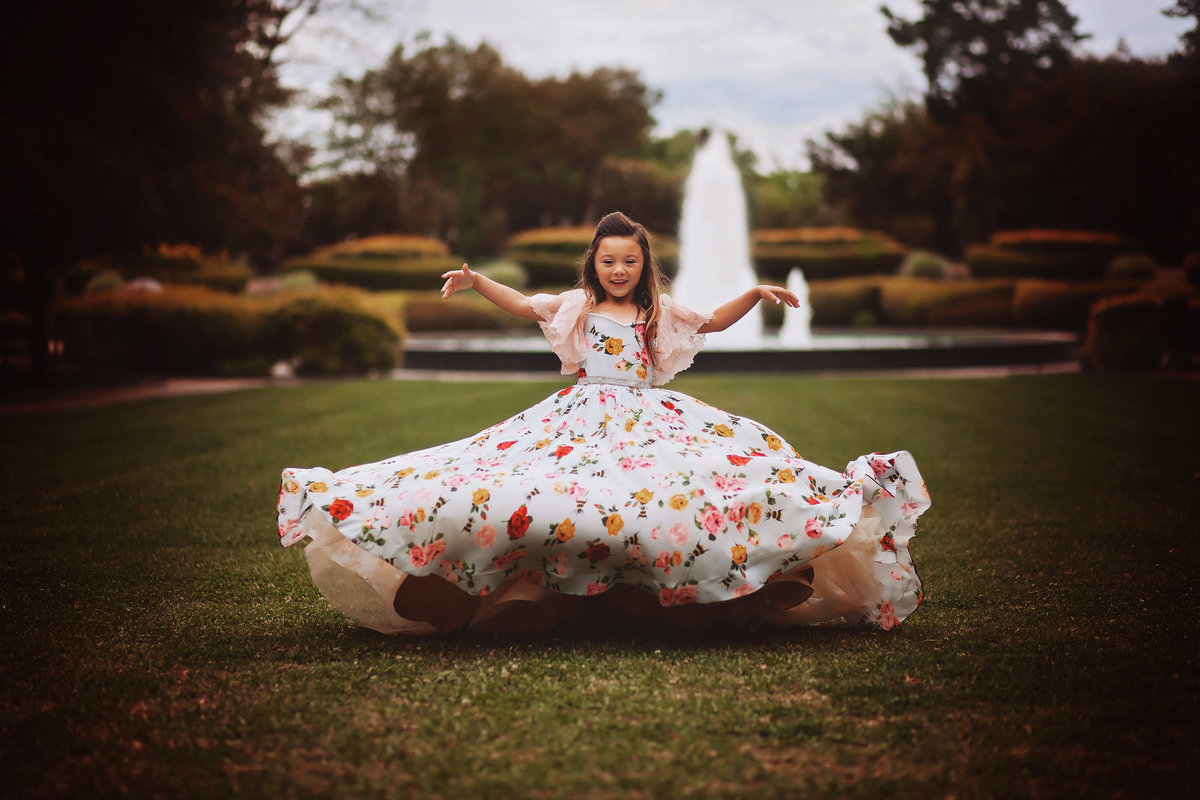 Dallas Fair Park Girl Floral Dress