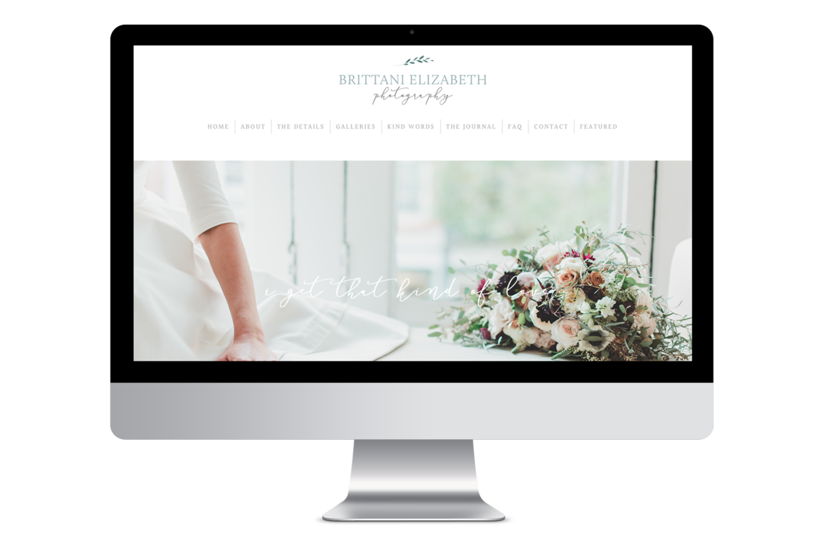 Alyssa Joy & Co. Brand & Web Designer for Creatives & Small Businesses || Brittani Elizabeth Photography, Wedding Photographer ProPhoto6 Website