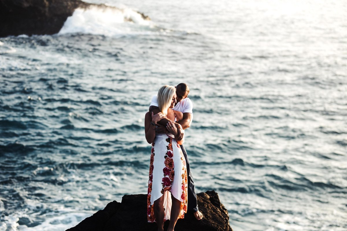 Eternity Beach Honolulu Hawaii Destination Engagement Session - 19