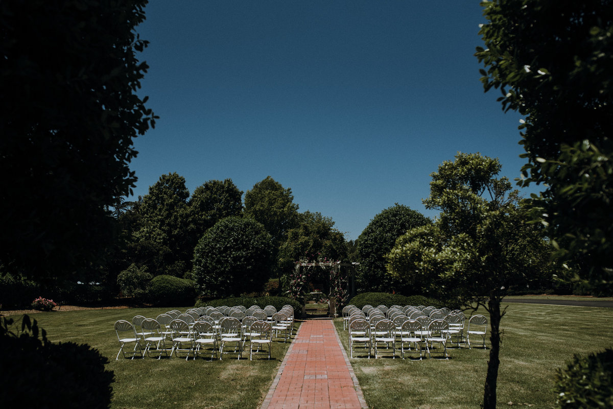 Ceremony set up at an Adams Estate wedding in Arkansas
