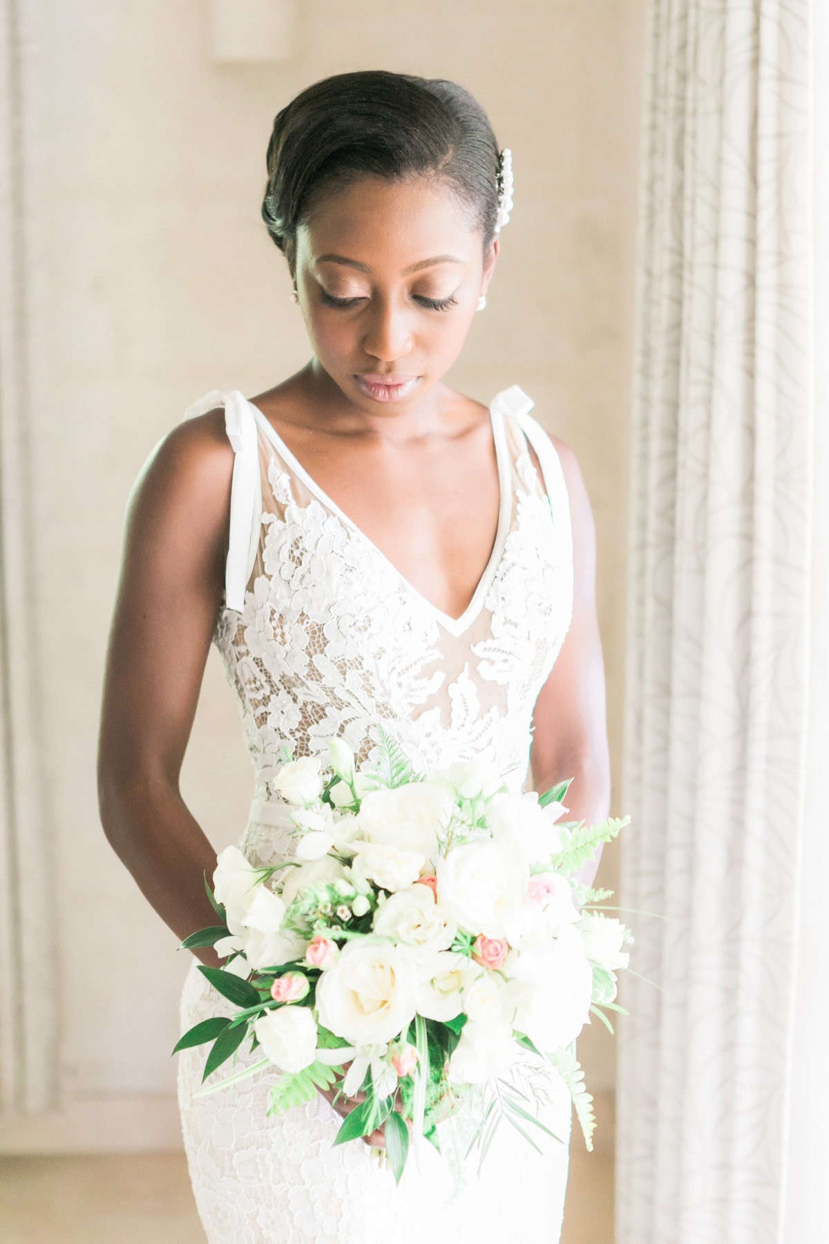 Destination wedding photographers, Evonne and Darren, bride portrait in Barbados