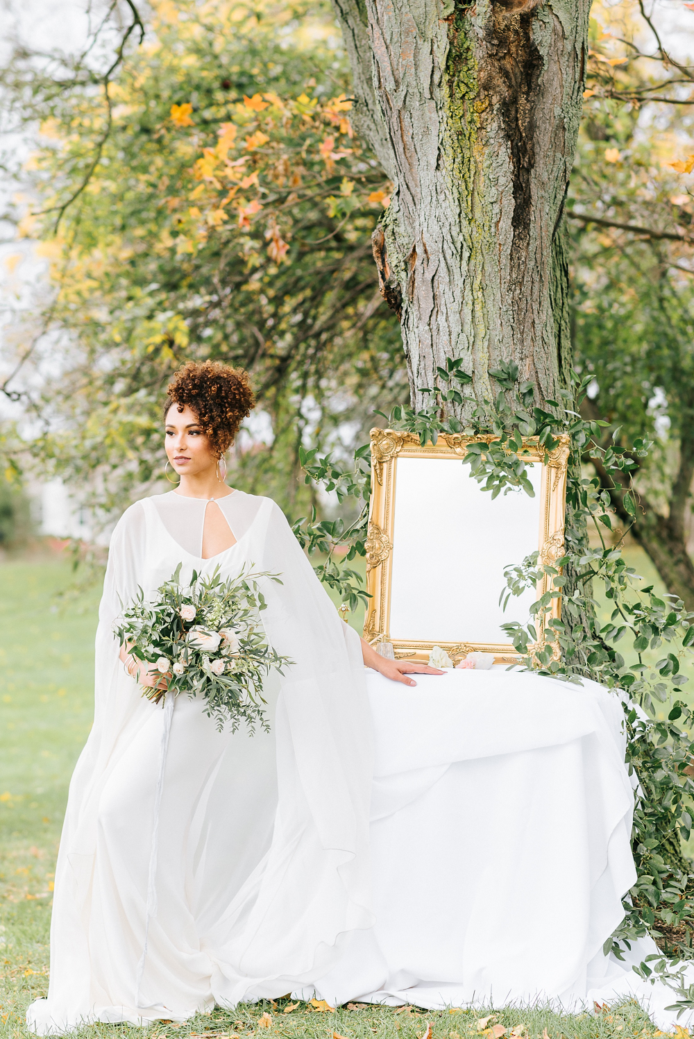 Lush Greenery Wedding Inspired Styled Shoot at Cornman Farms Bride Greenery