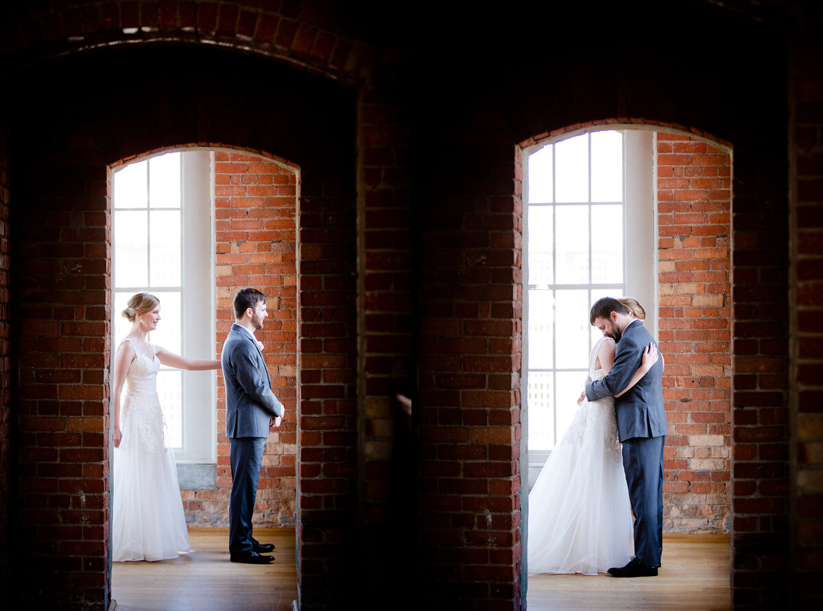 Bride and groom portraits at the Cotton Room