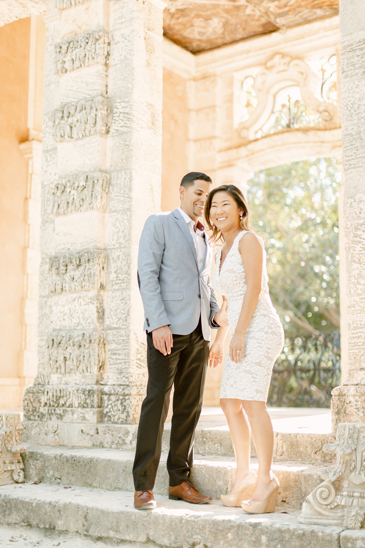 Vizcaya Museum Engagement Photography Session 18