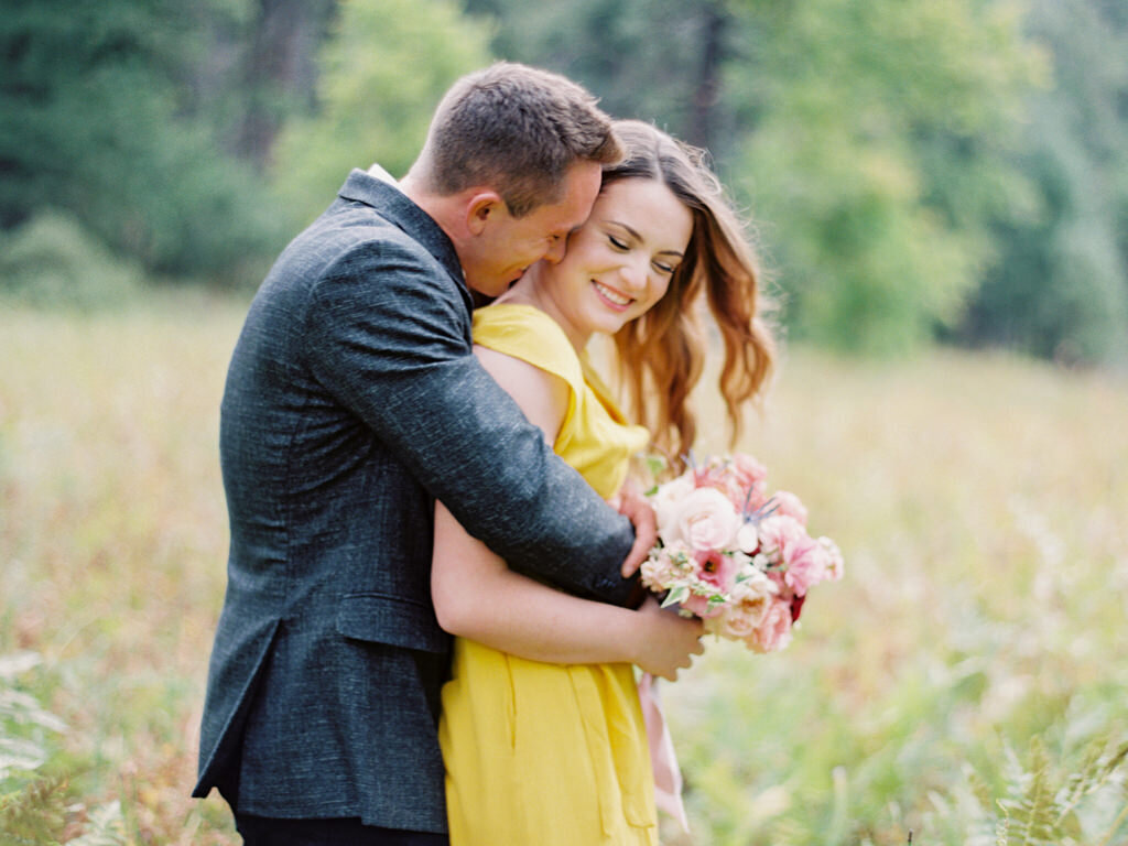 Aubrey & Joey Sedona West Fork Trail Fall Fine Art Engagement Session Ball Photo Co-14