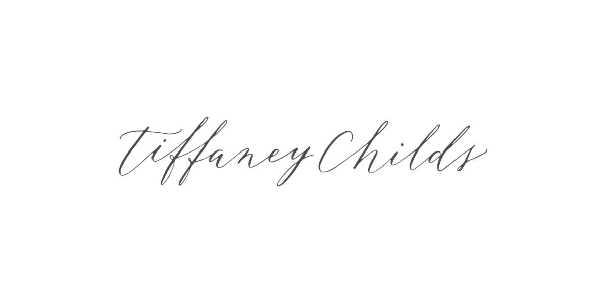 Tiffany Childs Custom  Calligraphy Logo
