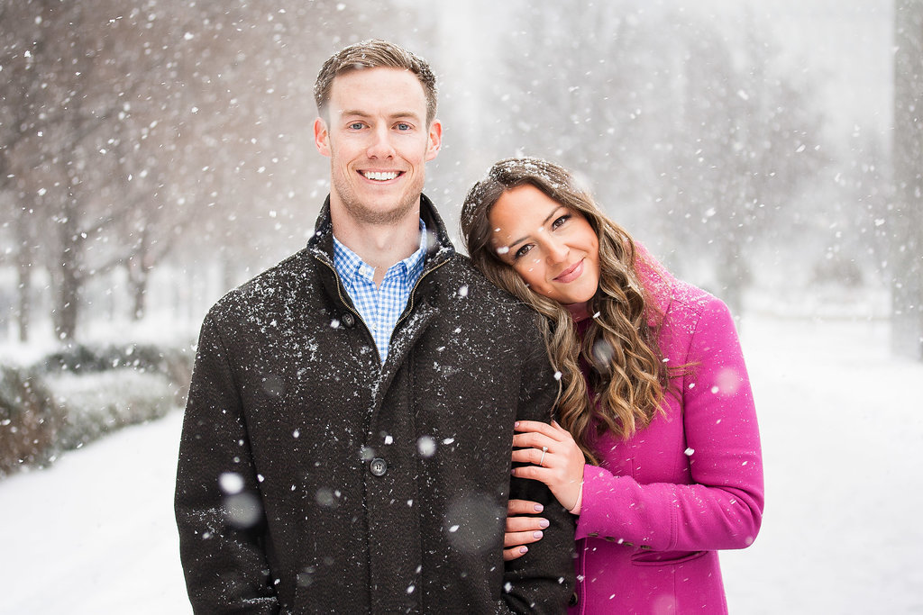 Millennium Park Chicago Illinois Winter Engagement Photographer Taylor Ingles 19