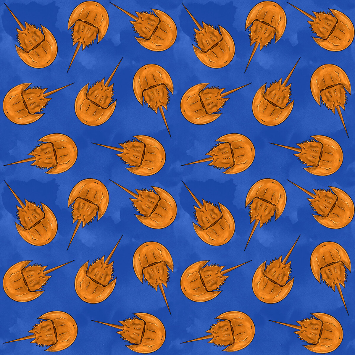 Horseshoe crab FABRIC PATTERN