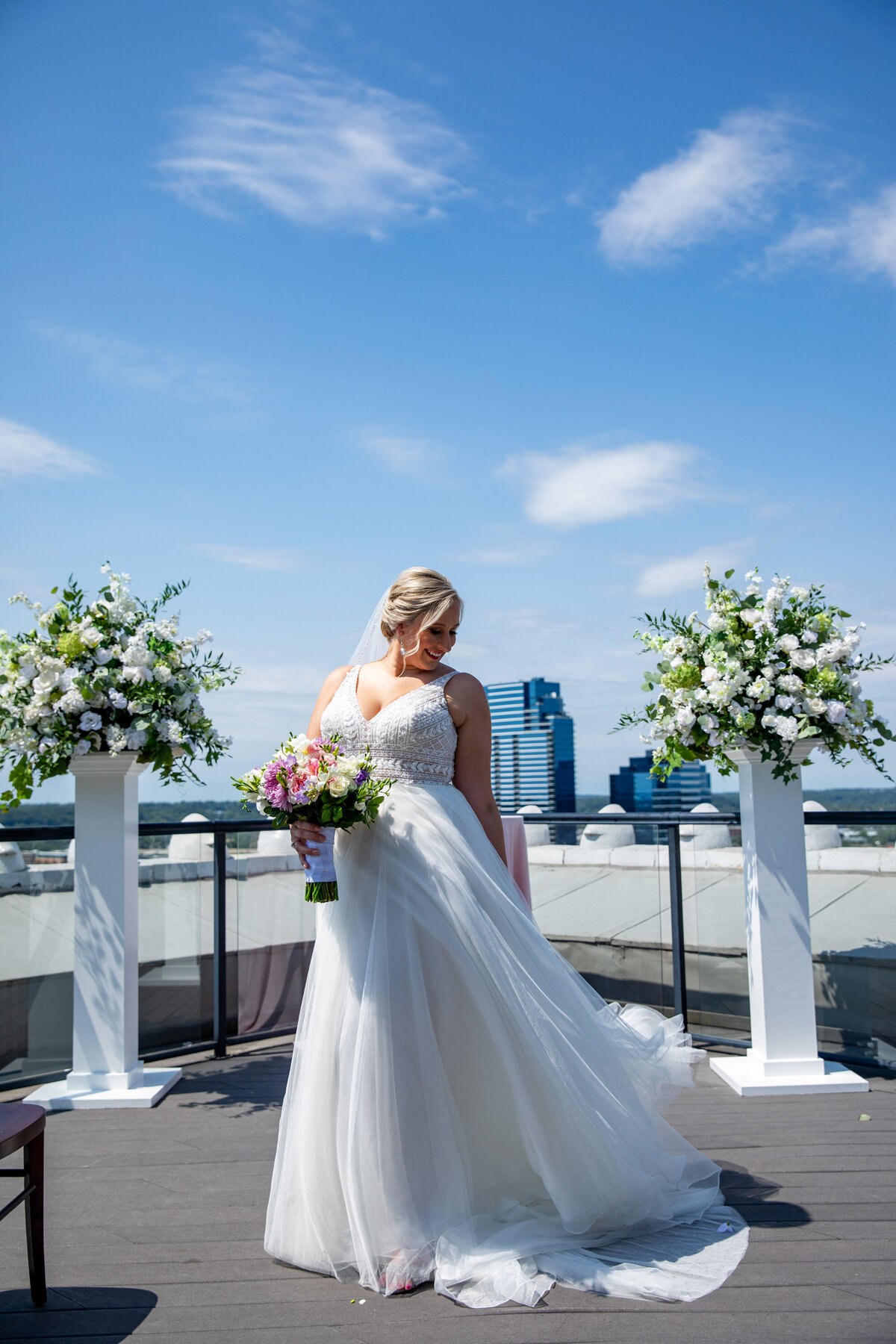 Grand-Rapids-Rooftop-Wedding-bride