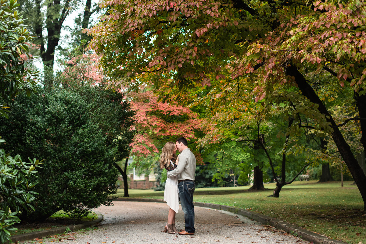 annesdale mansion fall engagement session