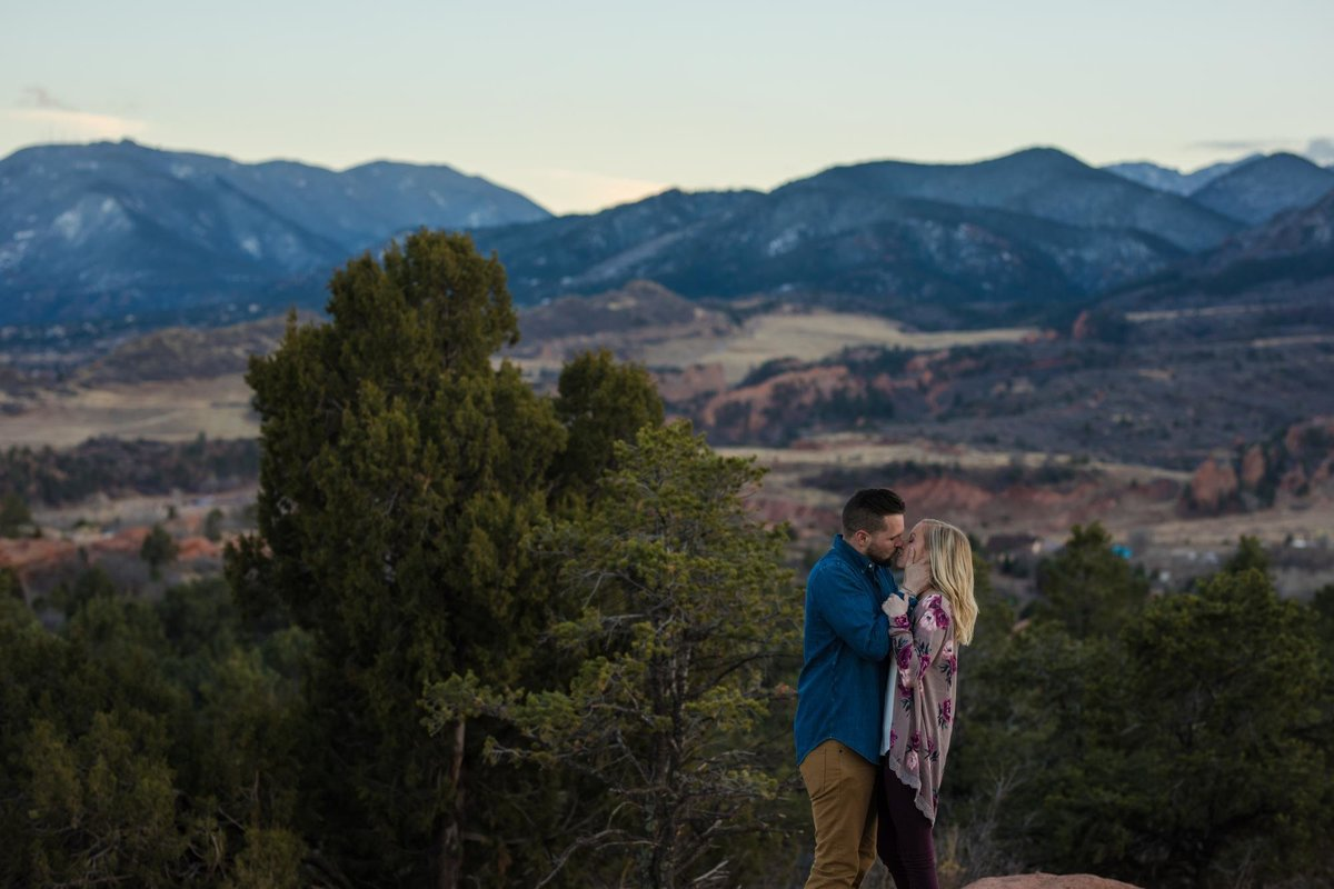 Garden of the Gods Suprise Proposal