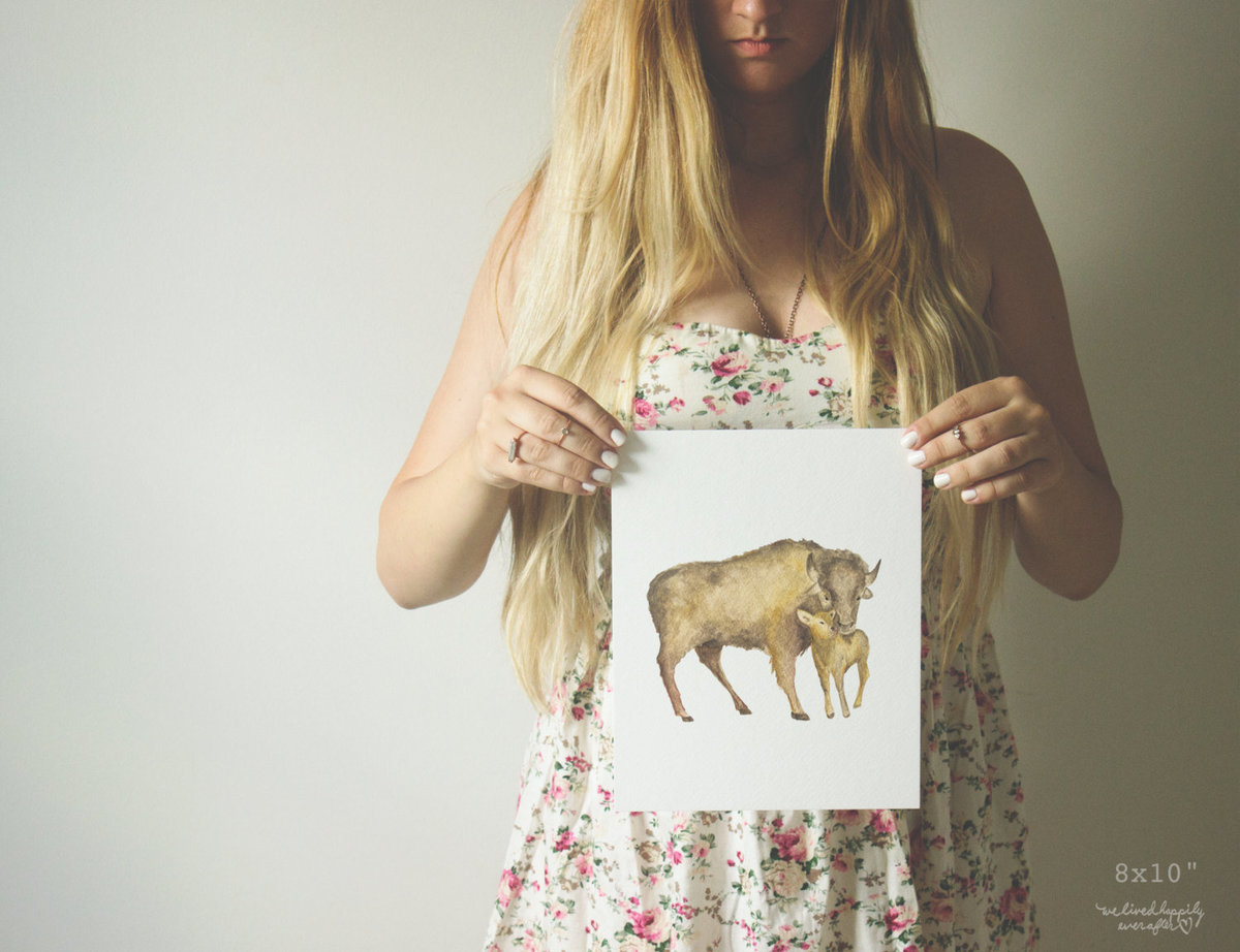 Buffalo_-_Bison_Mommy_Animal_Print_-_Printable_Nursery_Decor_-_Nursery_Watercolor_-_Digital_Download-400745883-_1