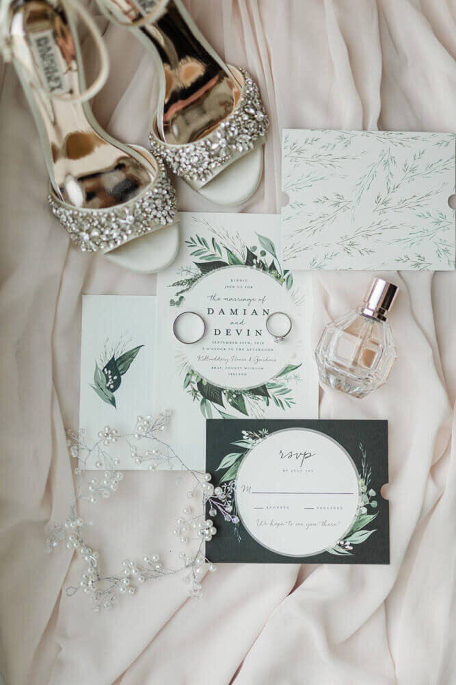 Ireland & US Wedding Coordinator, wedding flat lay