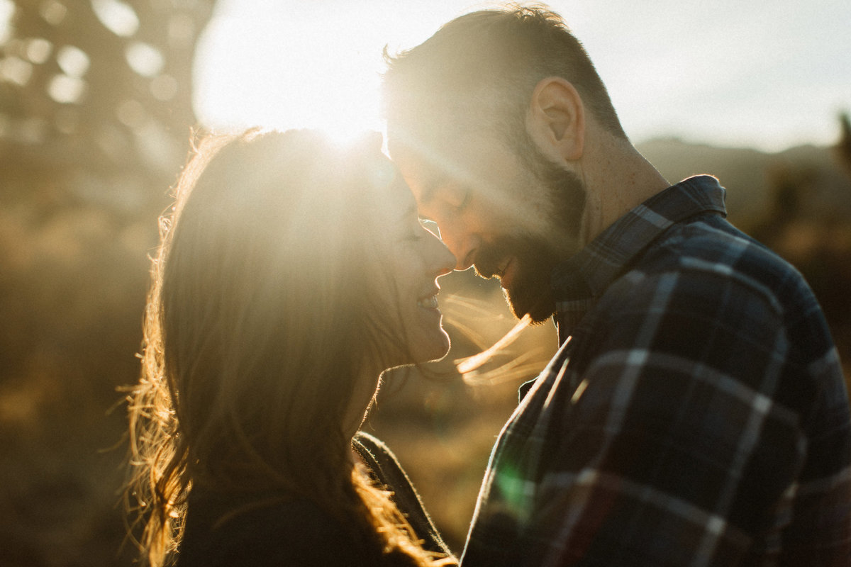 sunflare engagement photo