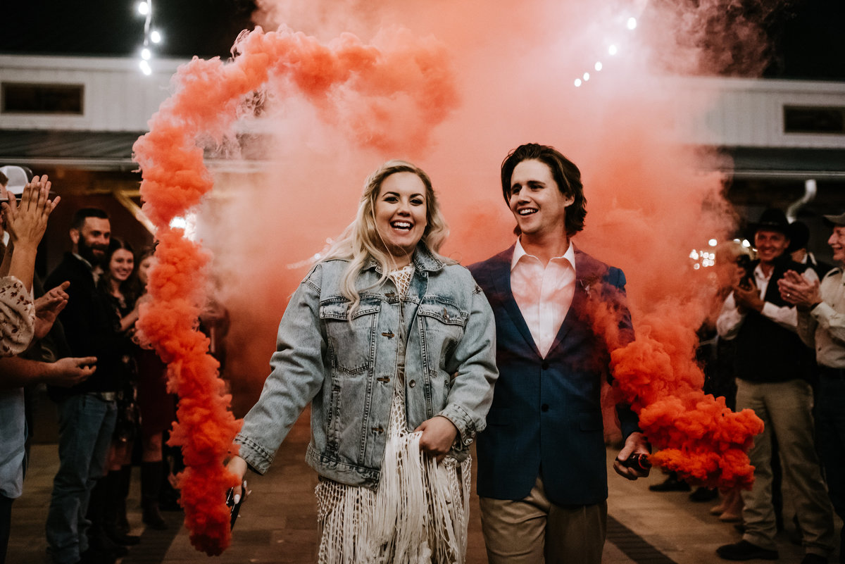 waco smoke bomb wedding exit