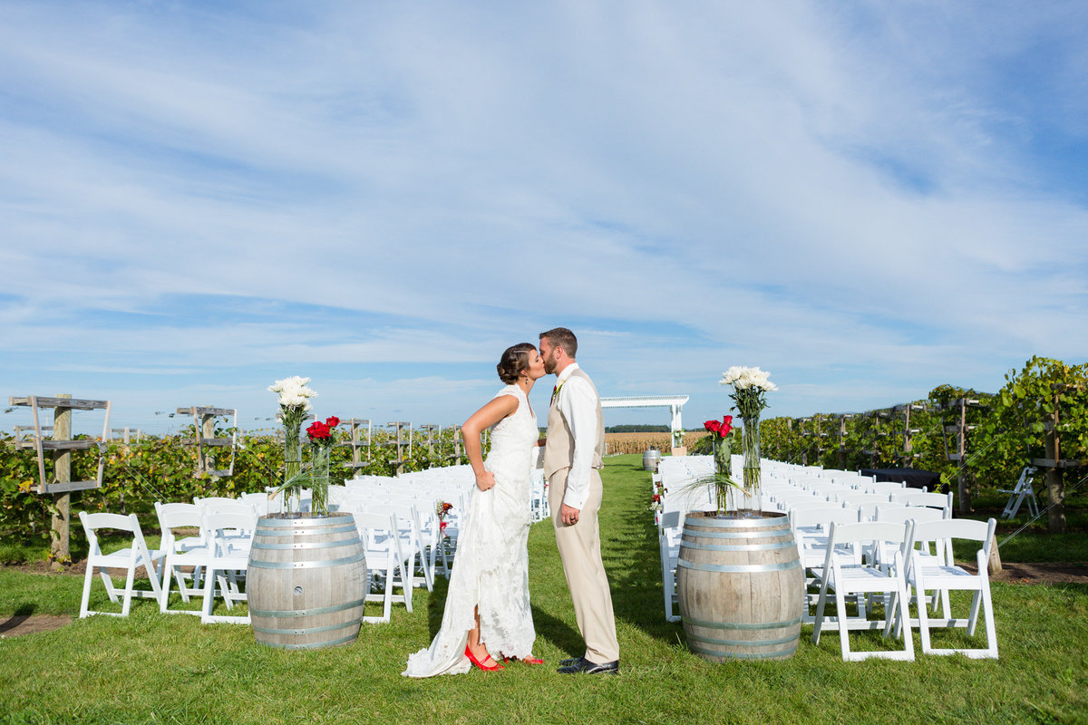 old hollywood meets vineyard for a wedding photograph