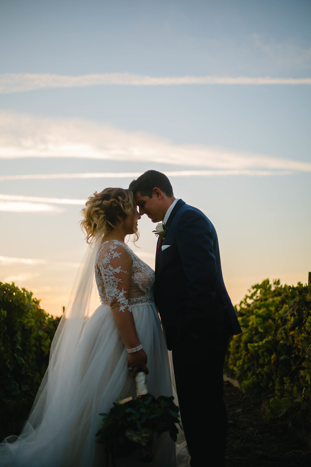 Sunset Silhouette Wedding Photos by Megan Helm Photography