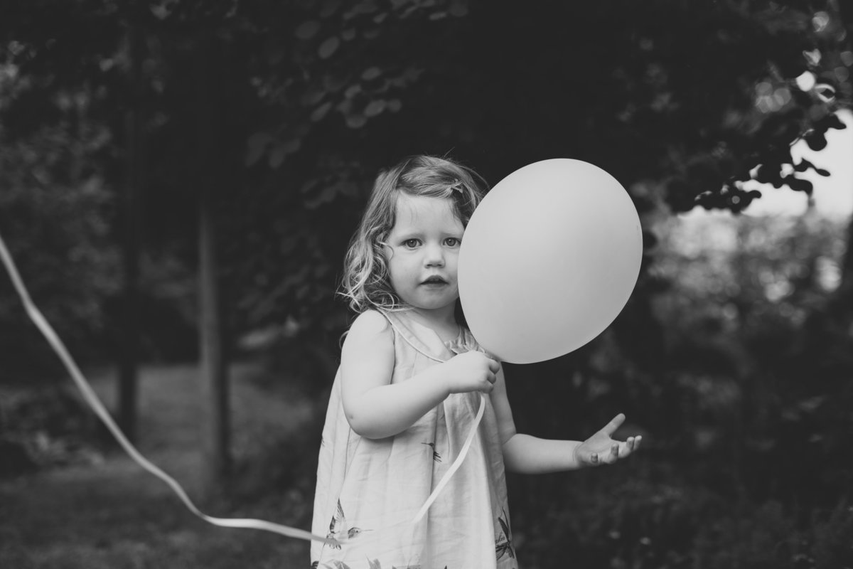 girl with a balloon
