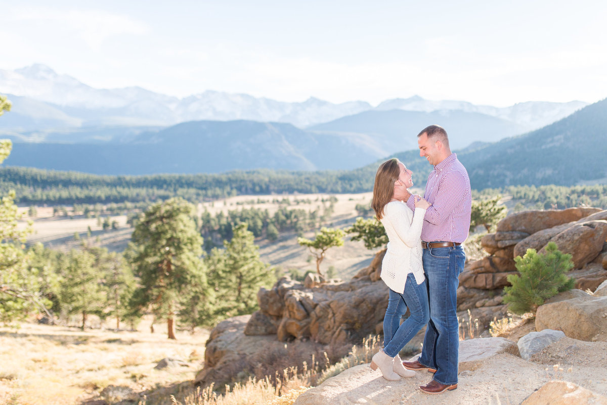 rocky mountain engagement shoot destination wedding photographer