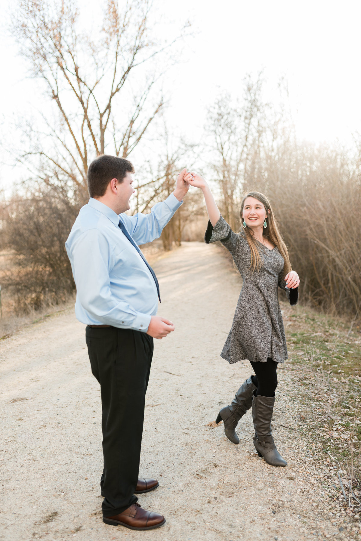 20190302 - Jannae and Forest Engagement Session 069 - A Winter Reid Merrill Park Engagement Session