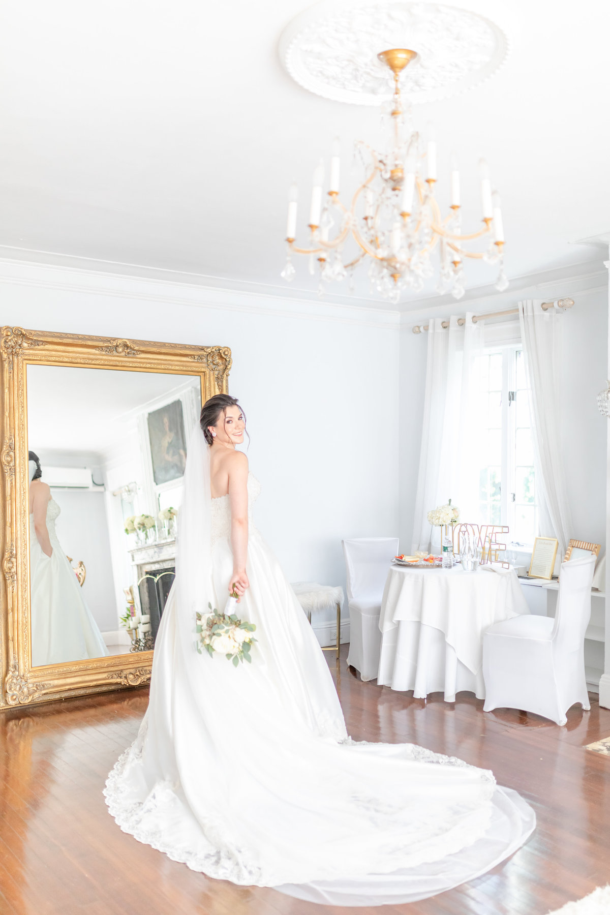 Briarcliff Manor wedding bride getting ready captured by NJ wedding photographer Diana & Korey Photo and Film