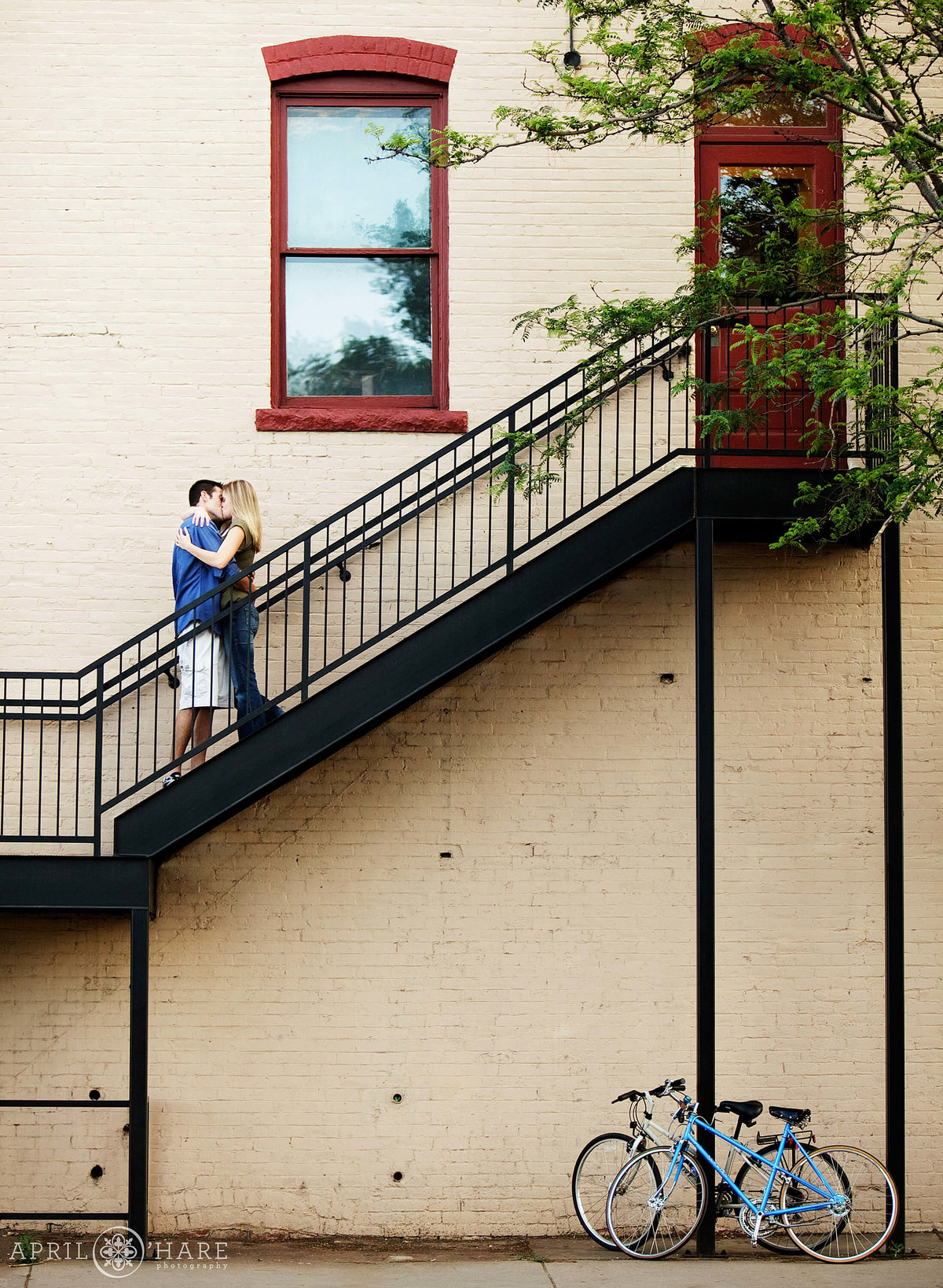 Colorado Engagement Photography in Old Town Fort Collins
