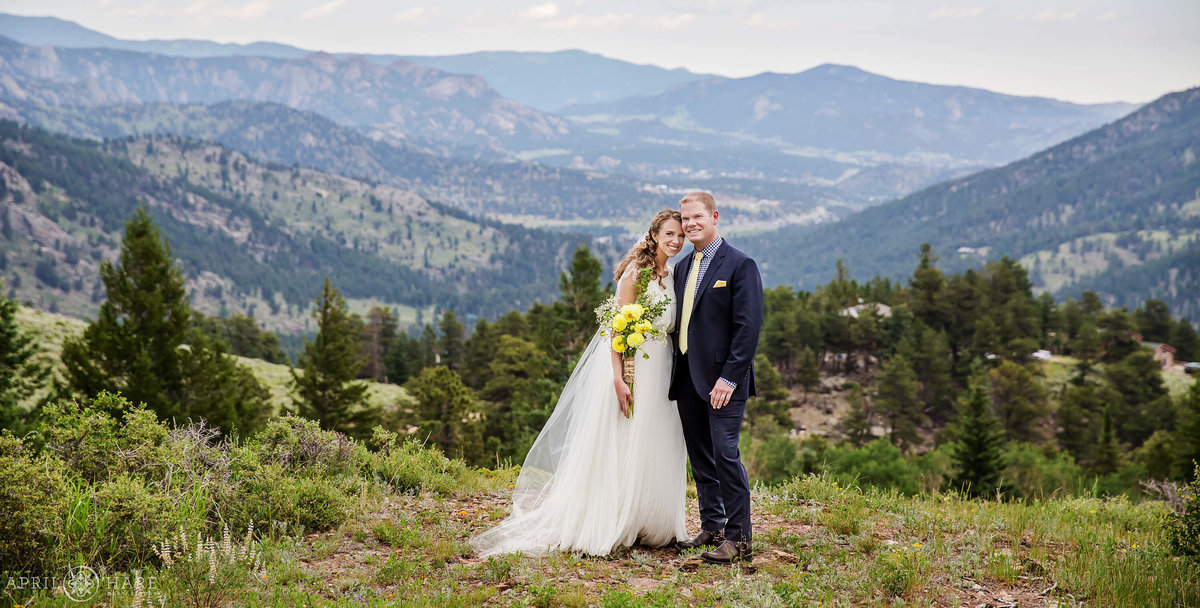 Beautiful Colorado Mountain Wedding Photography at YMCA of the Rockies in Estes Park