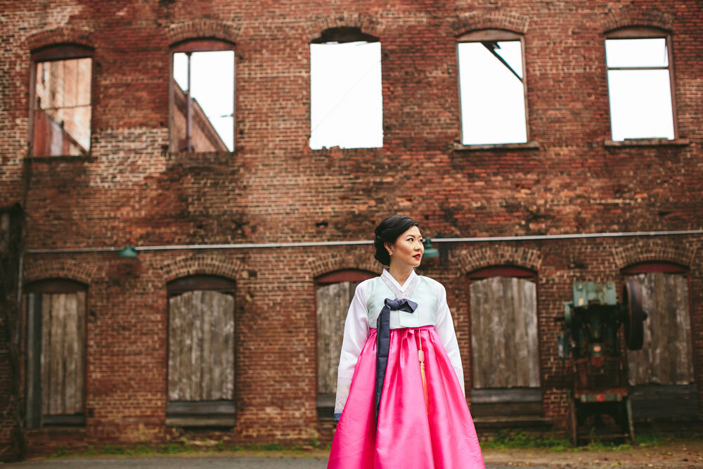 hanbok korean wedding photography Goat Farm Wedding photos