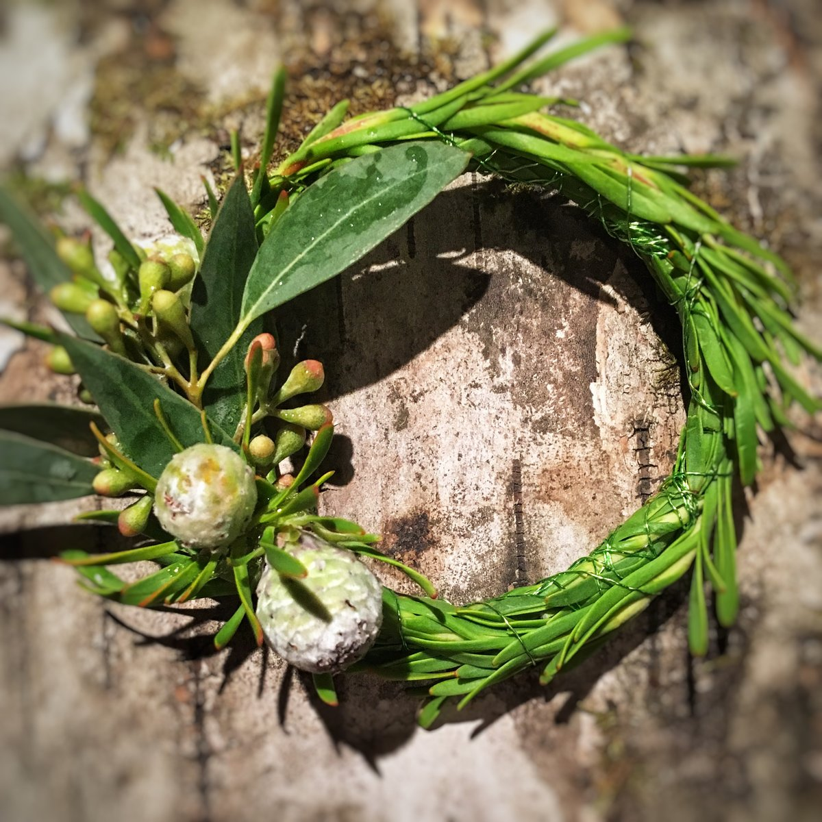 Wreath boutonniere