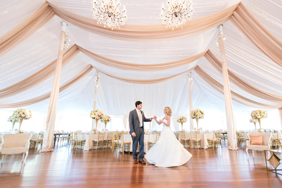 Tented wedding in Baltimore designed by Elizabeth Bailey Weddings