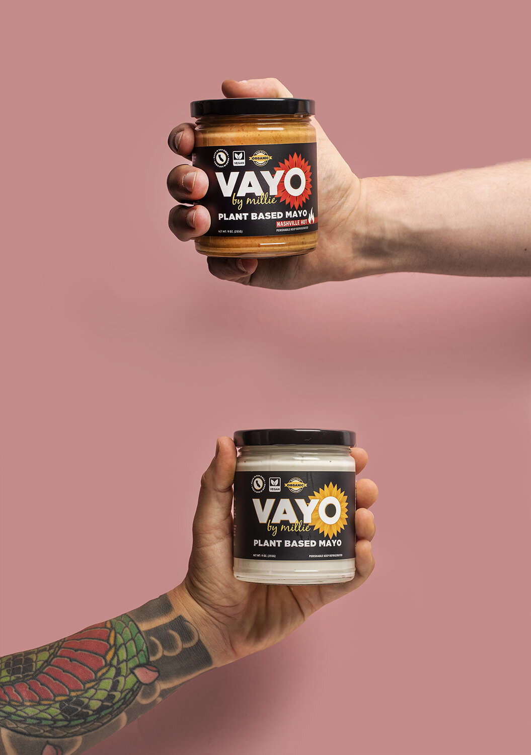 vayo vegan mayo product photography los angeles