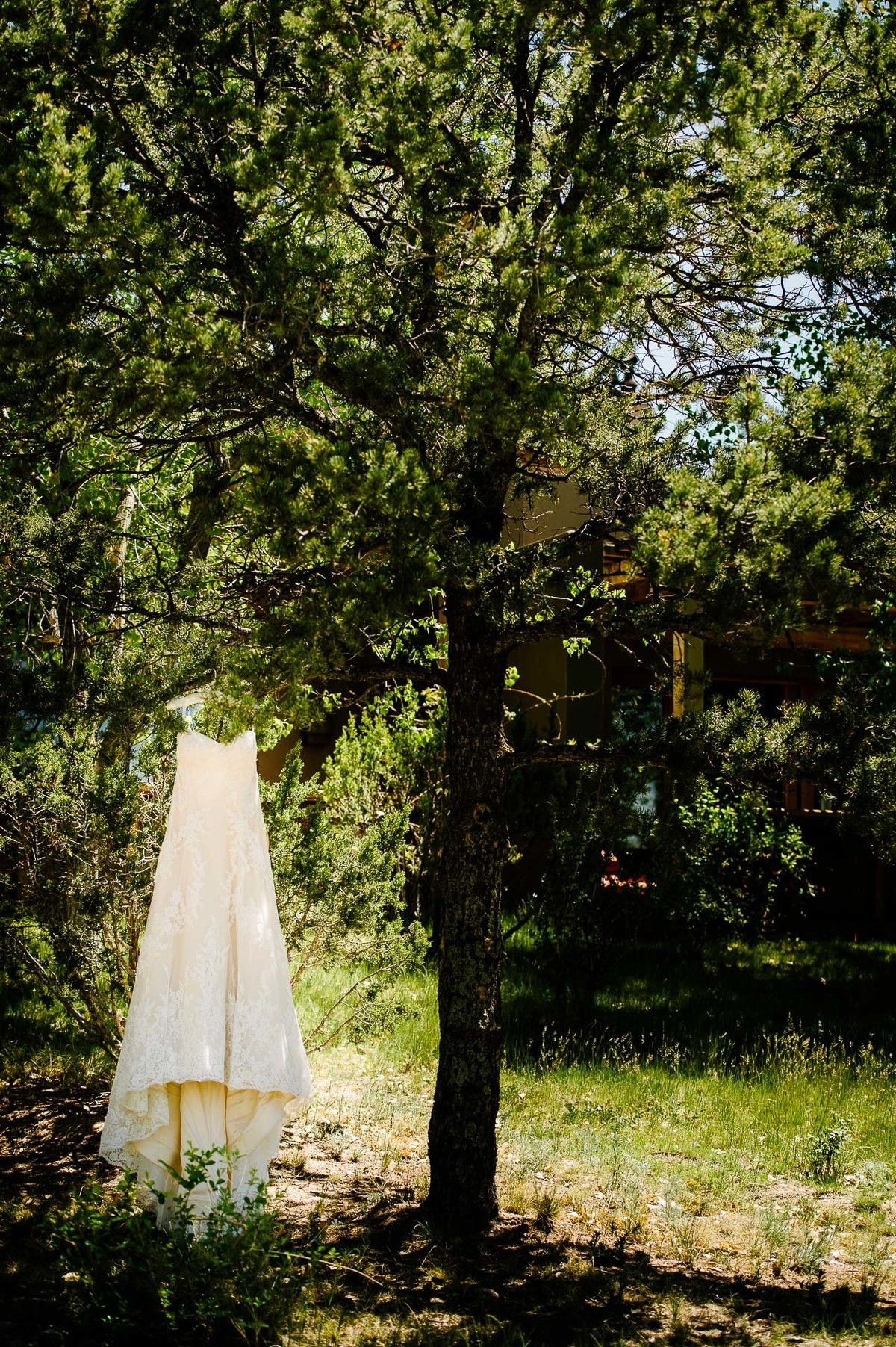 wedding dress at at Four Seasons Resort Rancho Encantado Santa Fe